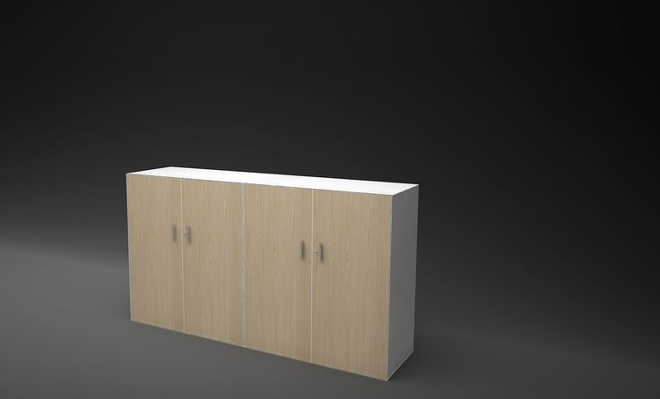 Advanced office storage system with wood veneer finishes. #organised #functional #office #workspace #workplace #storage #organized Wholesale inquires howimports.com