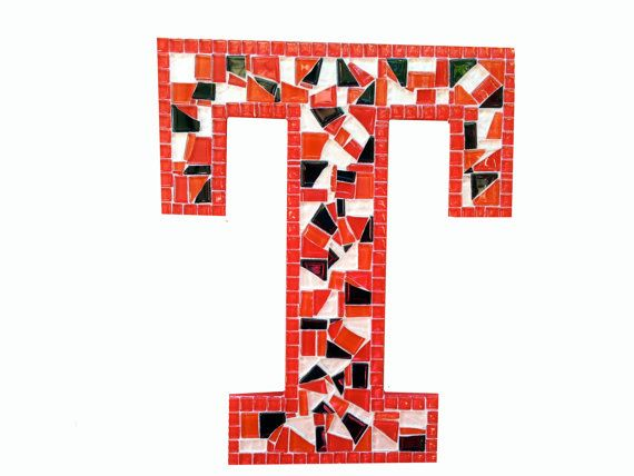 Wall Decor Letter T : Letter t mosaic wall art you choose the by