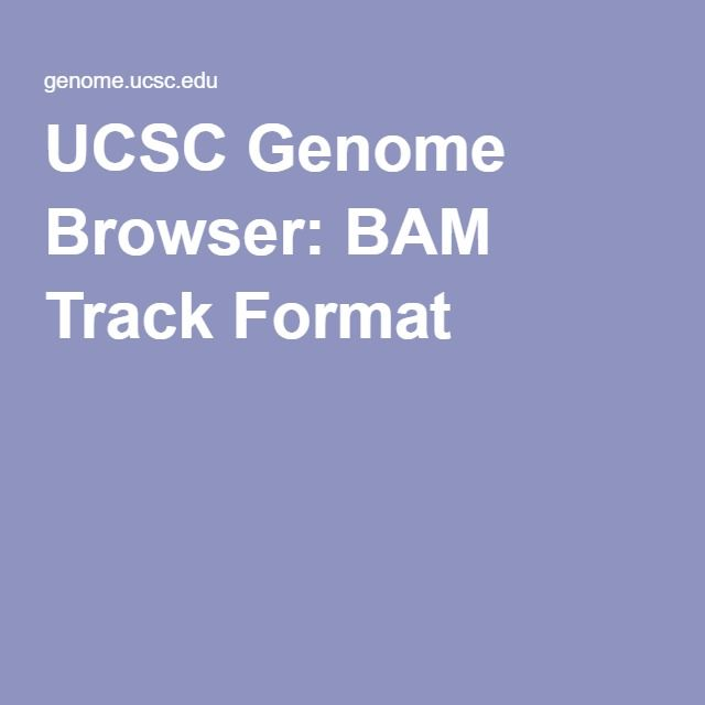 UCSC Genome Browser: BAM Track Format