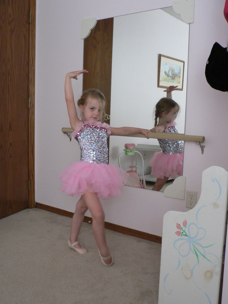 ballet mirror in girl's room