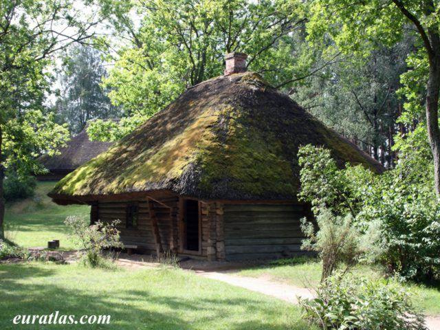 A Poor Peasant's House of Vestiena, 1780, Latvia