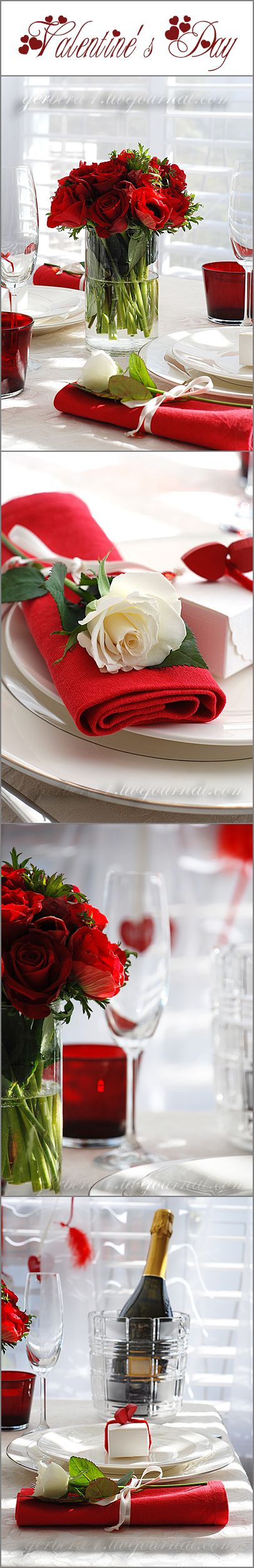 Valentine's Day table decoration ideas by Elena Korostelev