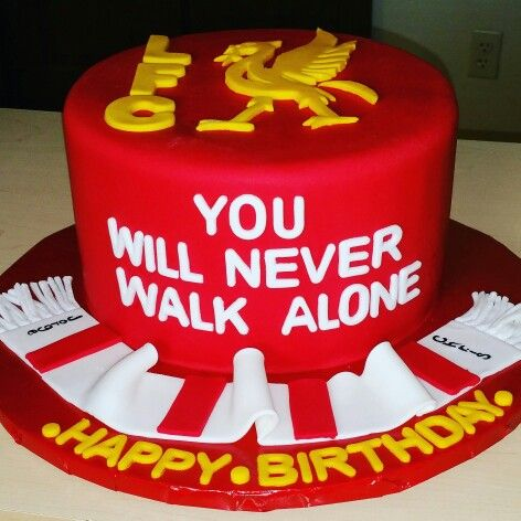 Liverpool cake !!! Red ,yellow and white cake .Terrazas cakes and pastries shop. ..terrazascakes.com 414 9882097