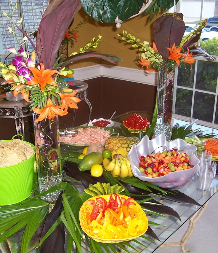 tropical party food; some of these look like good things to dip in a velata warmer full of chocolate!