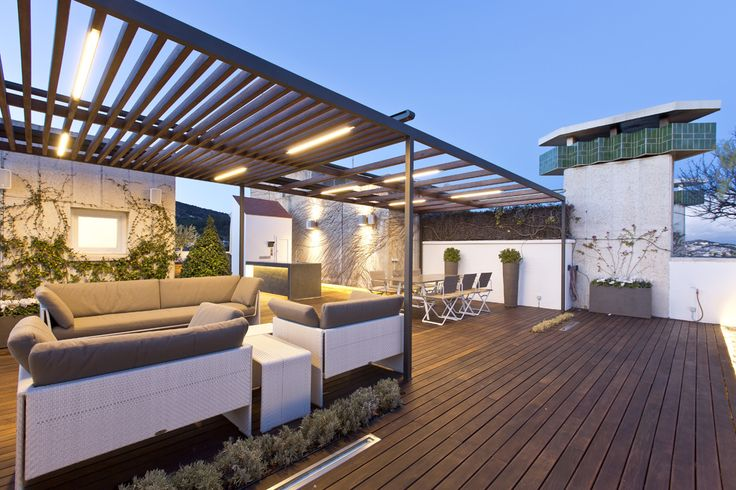 Exterior jardin terraza moderno decoracion via for Sofas para terrazas