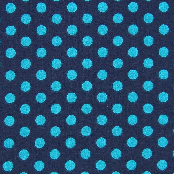 Tessuto in cotone pois – blu marino