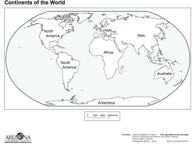 Great Image Of Continents Coloring Page World Map Printable