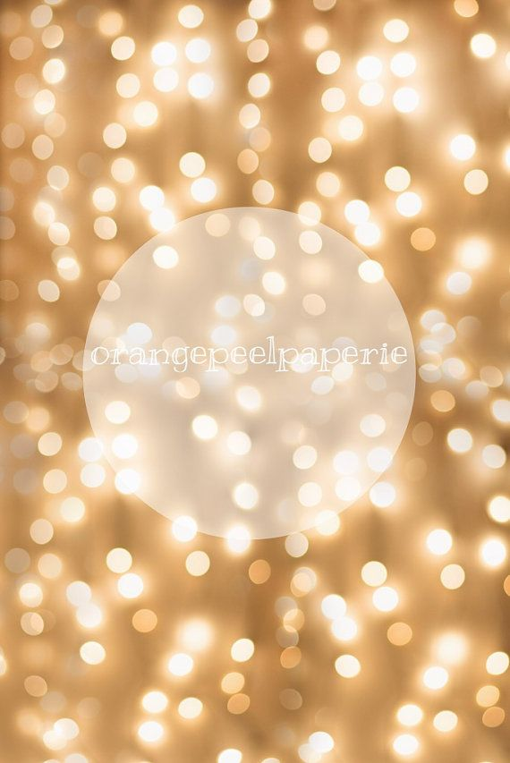 Holiday Lights Overlay, Bokeh Overlay, Large Bokeh Overlay, Gold Circle Overlay, White Light Background, Photography Overlays, Bokeh Effect