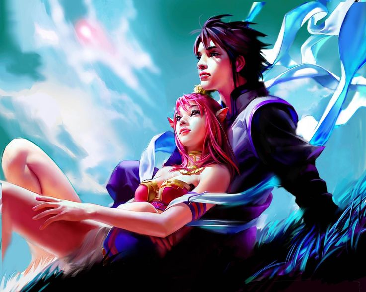 Fantasy Couples Couple Art Kawaii Girl Final Kingdom Hearts Anime Girls Digital