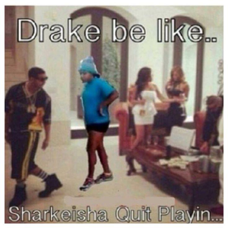 Run, Drake, there is a Sharkeisha behind you!