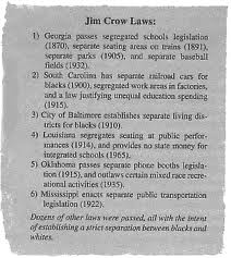 best jim crow laws images african americans jim some of jim crow laws in different states krystal