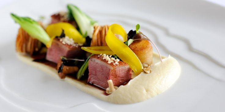 Supreme flavour combinations and exquisite plating ensure Simon Hulstone's duck recipe is truly best in class