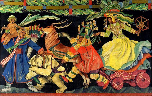 Zofia Stryjeńska (born 13 May 1891 in Kraków, died 1976 in Geneva) - Polish painter, graphic designer, illustrator, stage designer, a representative of art deco.