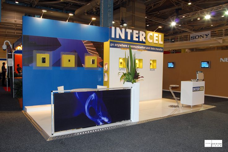 INTERCEL @ CEBIT A simple but effective stand for this electronics provider at the CeBIT conference