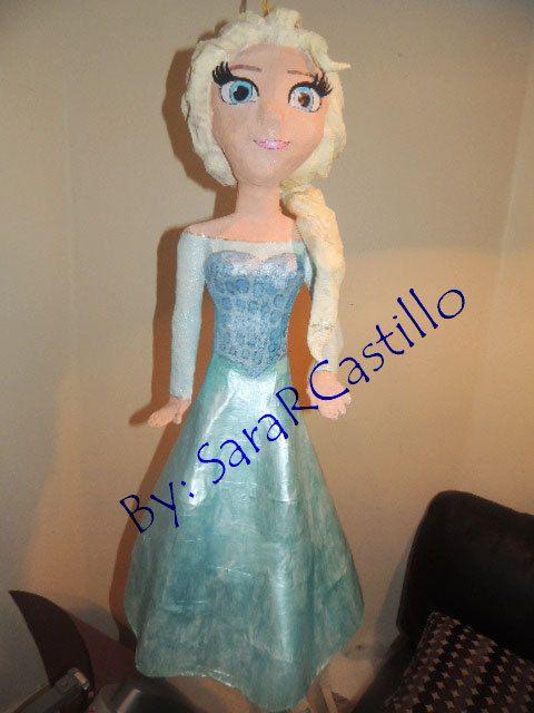 Elsa Frozen Pinata Princess. by RealisticCityPinata on Etsy, $70.00