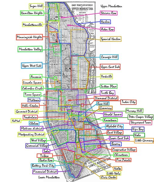 What to do in NYC great map