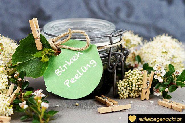 Birkenpeeling - Peeling Rezept Naturkosmetik