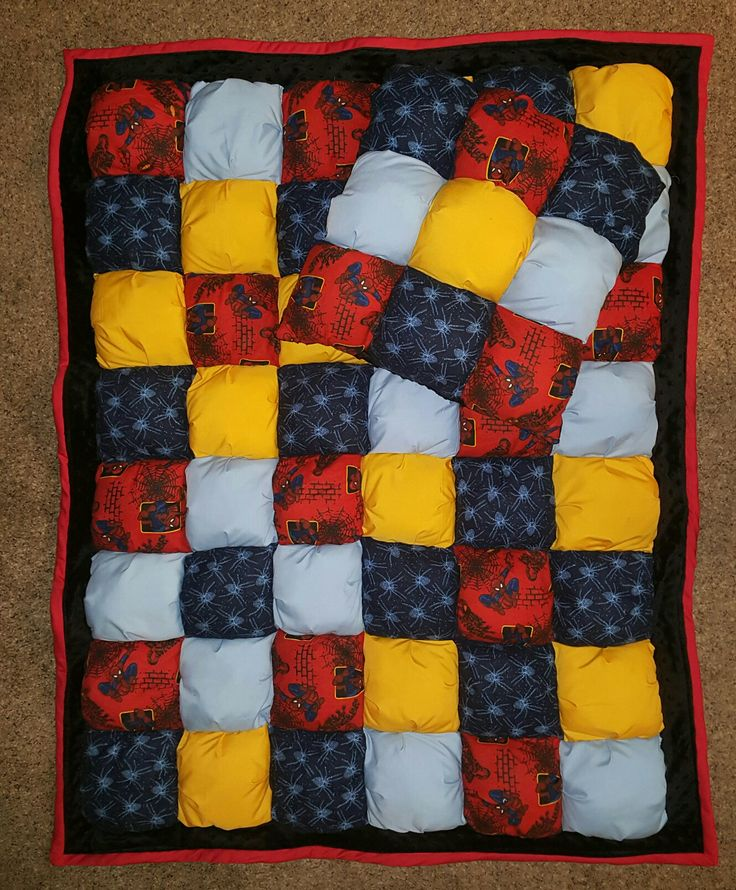 Spiderman Bubble Puff Quilt & Pillow For Sale On Ebay
