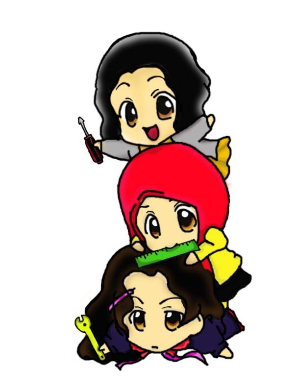 At the beginning of my college life, missin my bestfriends, we're being 3 of the inginiur musketeers. Made by photoshop.