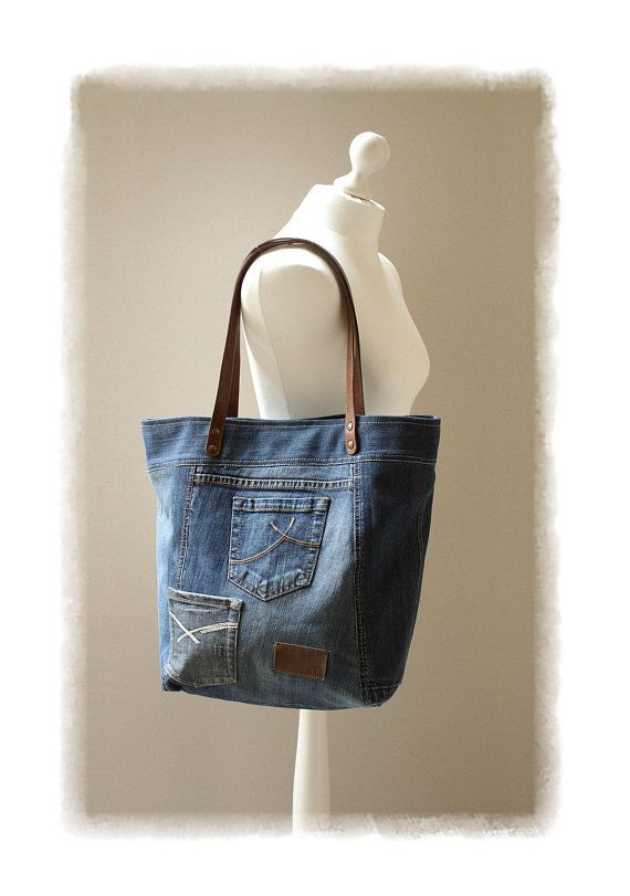 1008c1866ff1 Denim and leather bag