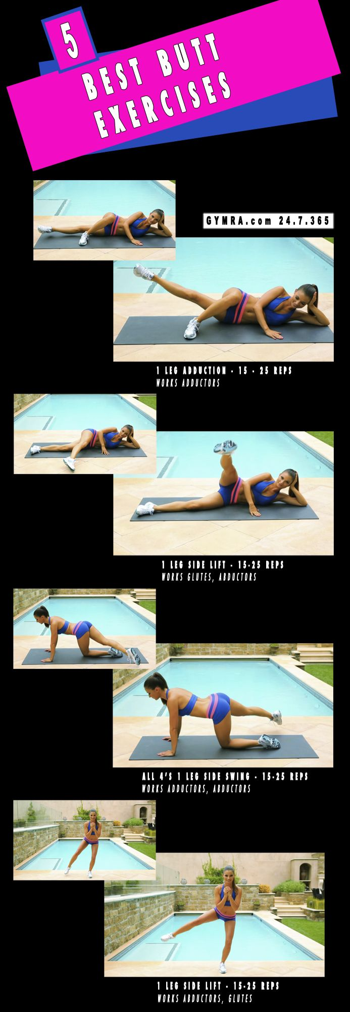 Build your own workouts or make computer generated ones using mini videos & GIFS at gymra.com.