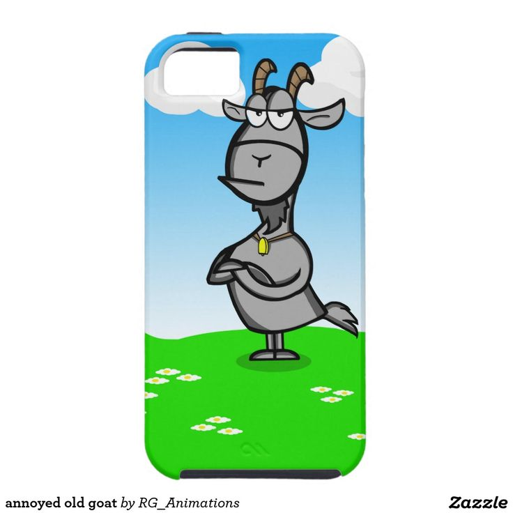 annoyed old goat iPhone 5 covers