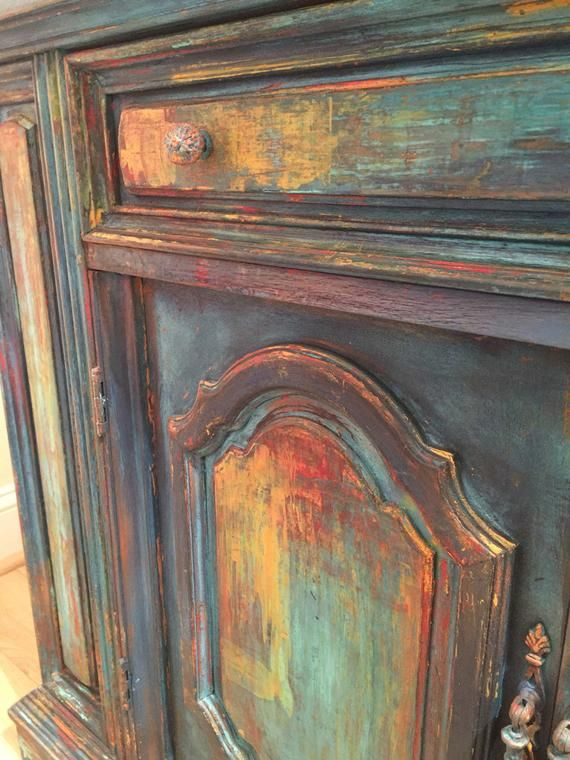 Sold Example Available For Custom Request Entryway Bohemian Eclectic Cabinet Furniture