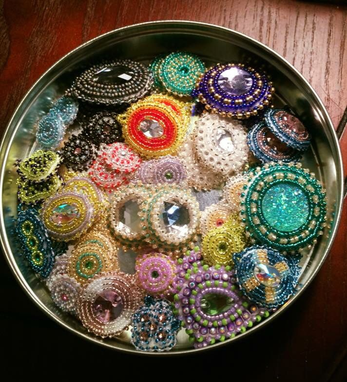 A tin-ful of earrings helps the medicine go down
