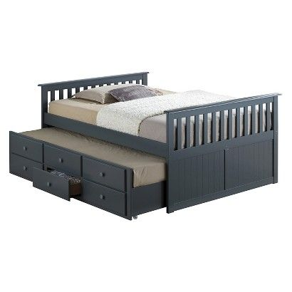 Broyhill Kids Marco Island Captain's Bed with Trundle Bed and Drawers - CHERRY