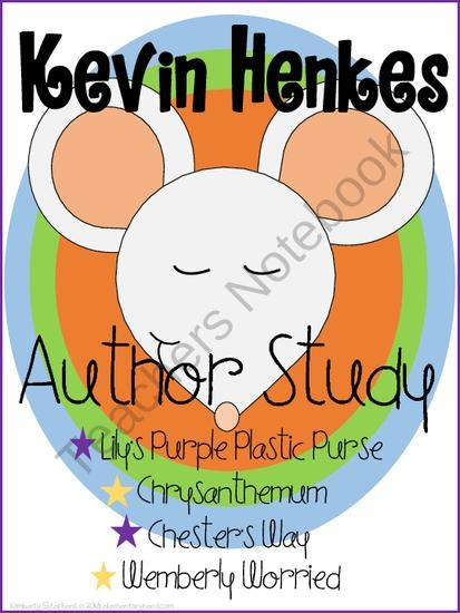 Kevin Henkes Author Study from Elementary Nerd on TeachersNotebook.com (36 pages)  - Kevin Henkes Author Study for 1st and 2nd grade!