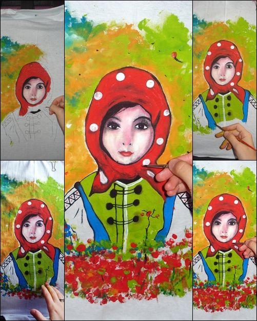 Elena Cosmina Georgescu- Haine De Inimă Tricou pictat (shirt painted) pe bumbac 100%, rezistent la spălare 40 grade sau manual. Pentru detalii răspund în privat, mulţumesc! Gând bun!