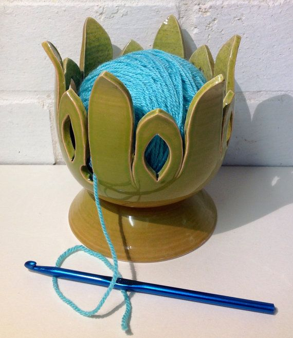 Small Lily style yarn bowl. by EarthWoolFire on Etsy, £20.00