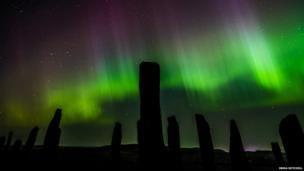 Aurora at Callanish Stones. Stunning image capture by Emma Mitchell.