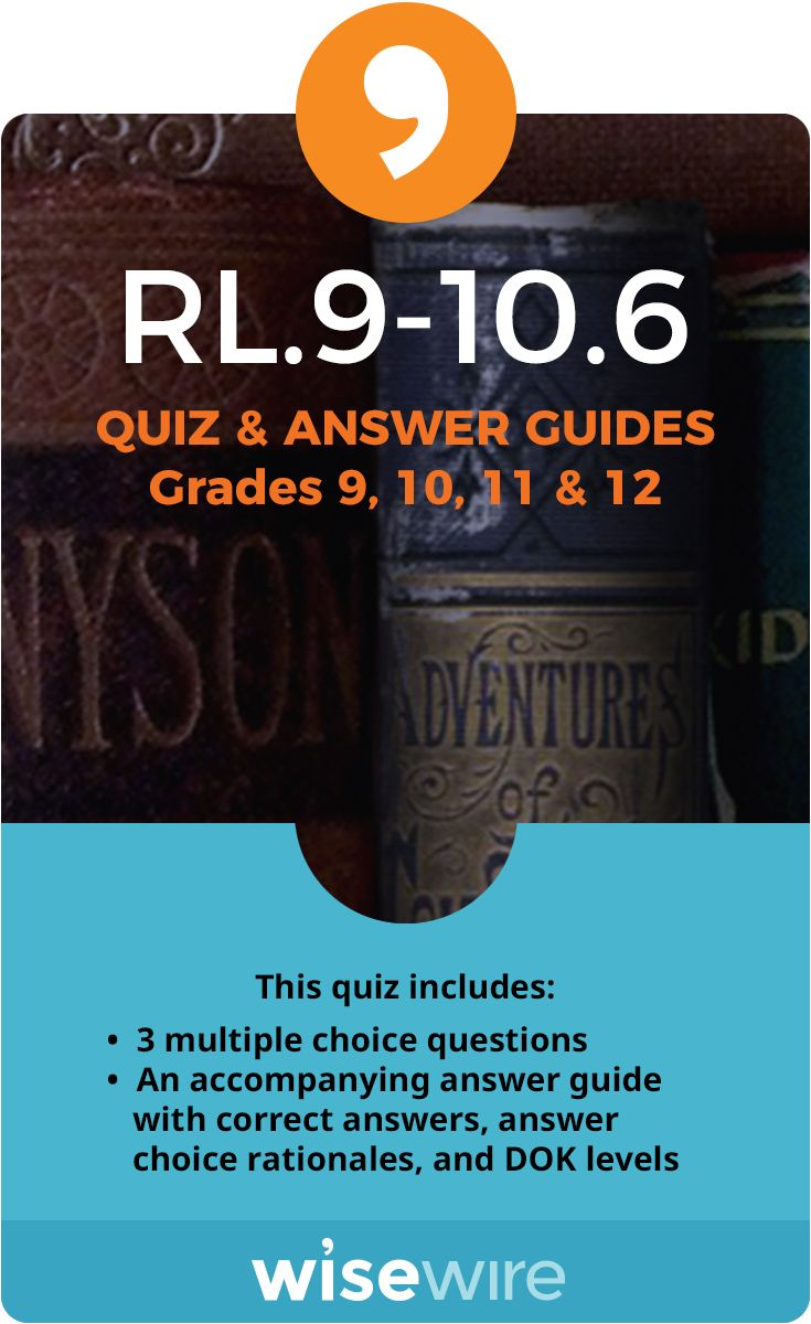 RL.9-10.6 - Quiz and Answer Guide | This or that questions ...
