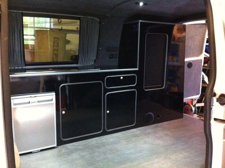 Camper van motorhome furniture with sink hob etc vw for Camper van kitchen units