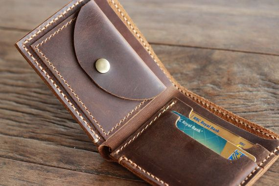 Mens Leather Wallet with Coin Pocket - All Currency Friendly - 003