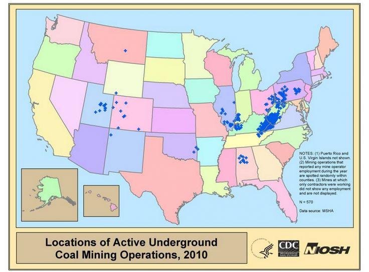 Best Coal Mining Images On Pinterest West Virginia Coal - Us coal map
