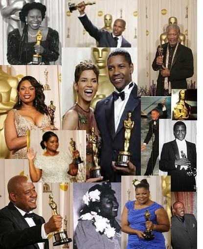 All the Black Oscar winners. And though these are all fabulously talented actors, in 86 years that the Academy Awards have been running this is the entirety of acting awards given to people of color...wow?!