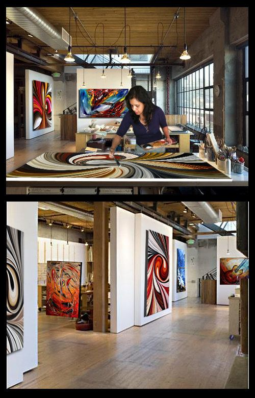 Xxl LARGE Artwork Original Red abstract art Modern by largeartwork