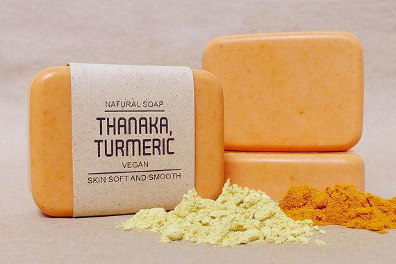 Thanaka soap mixed Turmeric Curcuma longa by Futuregiftdelivery