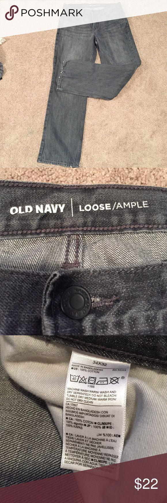 Old navy men's loose fit jeans size 34x32 Men's old navy jeans size 34x32 loose ample fit Old Navy Jeans