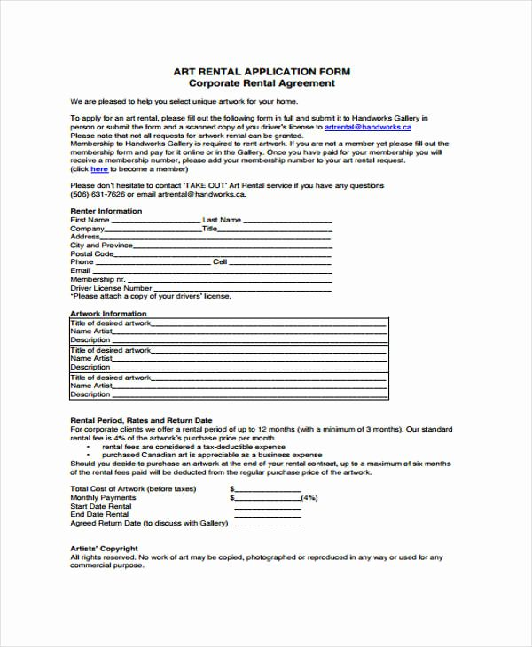35 rental agreement application form form tax Others Pinterest