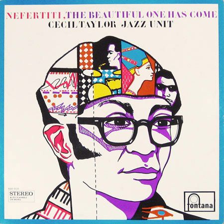 Nefertiti * Cecil Taylor #LP #cover 1965    Design + illustration Marte Röling