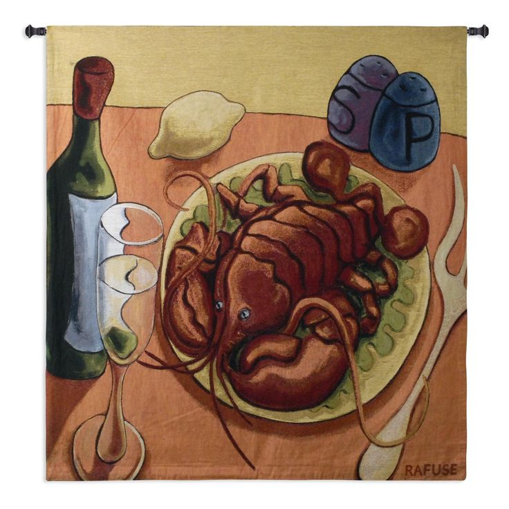 Fine Art Tapestries 'Lobster Fest' Wall Tapestry