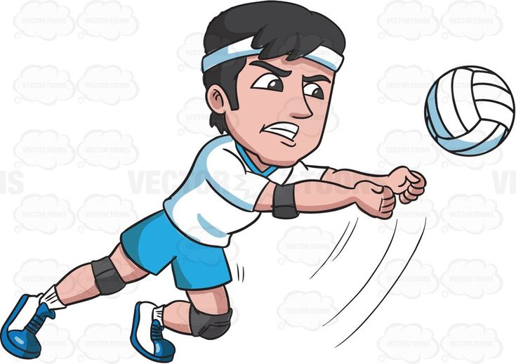 cartoon volleyball clipart - photo #37