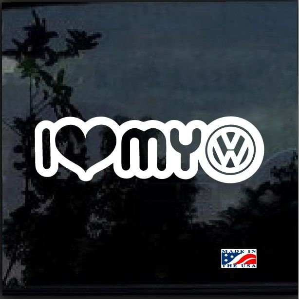 I Love My Vw Jetta Cabrio Cc Window Decal Sticker Vw Jetta Car Decals Stickers Car Decals
