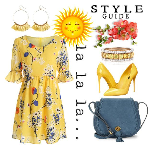 """""""Sunshine On My Shoulder"""" by hastypudding ❤ liked on Polyvore featuring Dolce&Gabbana, Nanette Lepore and Bayco"""