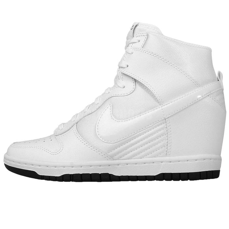 Wmns Nike Dunk Sky Hi Essential White Womens Wedges Sneakers Shoes 644877-101