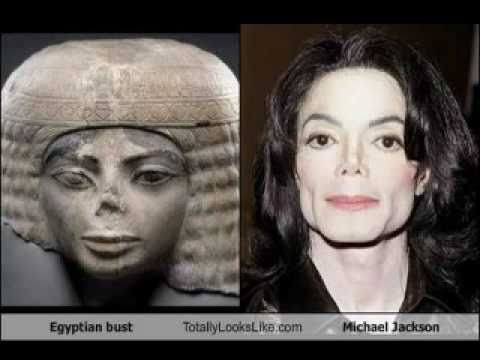 """It's seems very likely that Michael Jackson took this statue to his plastic surgeon and said """"I want to look like this."""" Description from pinterest.com. I searched for this on bing.com/images"""