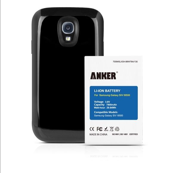 Anker 7800mAh Extended Battery Anker 7800mAh Extended Battery Combo for Samsung Galaxy S4, I9500, I9505, Galaxy S4 LTE I9506, Galaxy J, M919 (T-Mobile), I545 (Verizon), I337 (AT&T), L720 (Sprint) [Not for Galaxy S4 active].                                            Packed with 7800mAh of pure power, use your phone a full three times longer than you previously could. That's up to 50 hours of talk time or 20 hours of internet time.  Package contents: Anker High-Capacity Li-ion Battery, TPU…